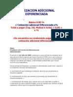 Cotizacion Adicional Diferenciada (Detalle de Como Se Paga Al Org. Adm.)