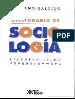 diccionario de sociología escrito por luciano gallino