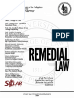 UP Bar Reviewer 2013 - Remedial Law