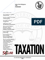 UP Bar Reviewer 2013 - Taxation