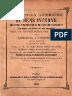 Exposition Sommaire Du Sens Interne Ouvrage Posthume Swedenborg