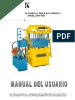 Manual Bloquera Bh-3000