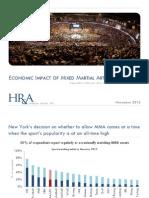Economic Impacts of MMA in New York Report Nov 2013_Finalv2