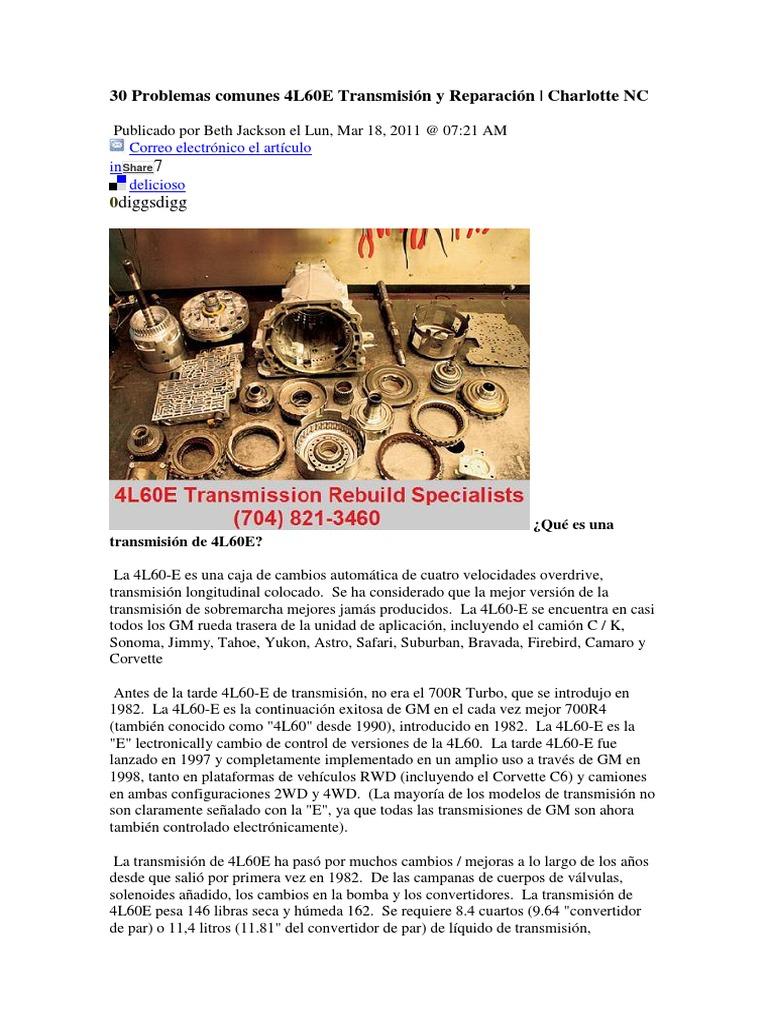 atsg 4l60e transmission manual