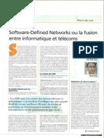 Software-Defined Networks ou la fusion entre informatique et telecoms