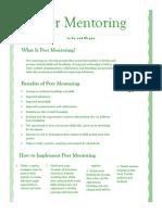peer mentoring newsletter