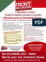 Tract Front de Gauche 63 Marche 1 Decembre