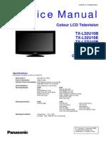 Panasonic TX-32u10e l37u10e Chassis Glp24 Sm