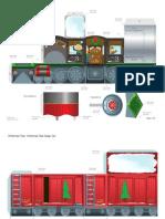 Christmas Train Playset Printables 1209