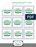 Preppy Christmas Gift Tags from WH Hostess