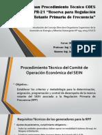 Aprueban Procedimiento Técnico COES PR-21