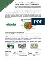 Disifin Effect on Influenza a Swine Flue Uk