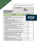 Check List Trabalho Em Altura - NR 35