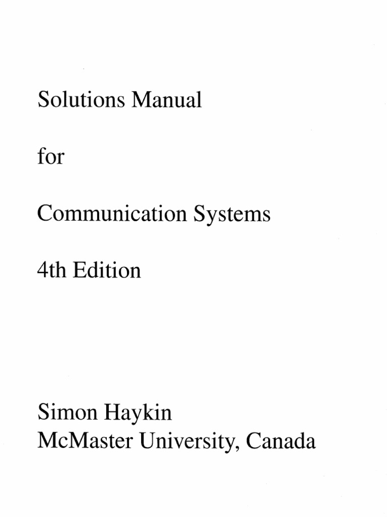 modern digital and analog communication systems 4th edition solution manual