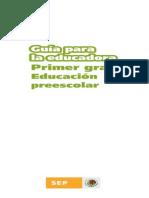 20. Guía para la educadora. Primer Grado