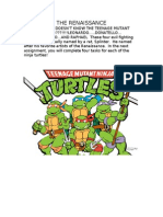 Teaching the Rennaissance using the Teenage Mutant Ninja Turtles