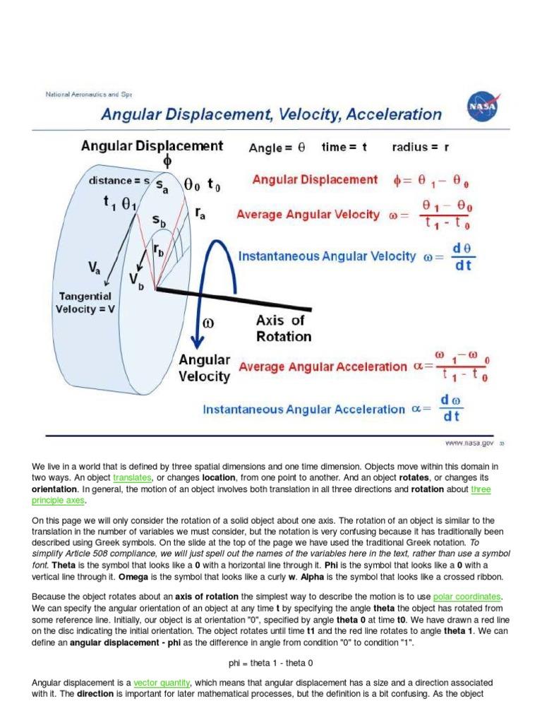 Angular displacement velocity acceleration rotation around a angular displacement velocity acceleration rotation around a fixed axis velocity biocorpaavc