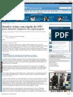 Brasil se reúne com cúpula da ONU para discutir espionagem
