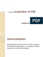 Demutualization of KSE