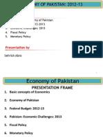 Lec 01 Economy of Pakistan 2012 13