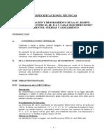 Especificaciones técnicas chulucanas 1