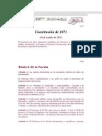 Constitucion de 1871