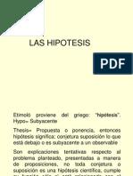 Las Hipotesis