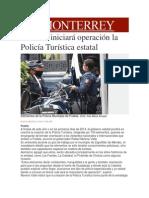 21-11-2013 Milenio.com - En 2014 iniciará operación la Policía Turística estatal