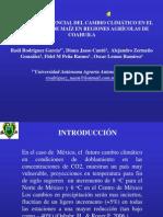 RodriguezGarciaRaul et al 2013 El Impacto Potencial del Cambio Climático en el Rendimiento de maíz en Regiones Agrícolas de Coahuila