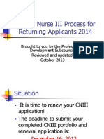 clinical nurse iii returning applicants2013 application guide power point