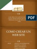 como se crea un web site