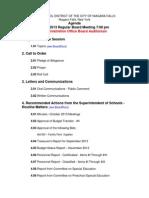 Niagara Falls School Board agenda - Nov. 21, 2013