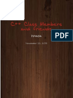 C++ Class Members and friends