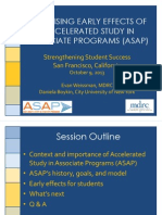 Promising Early Effects of Accelerated study In Associate programs (ASAP) - 2013 Strengthening Student Success Conference