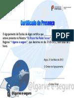 Modelo certificado de presença