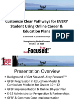 Customize Clear Pathways for EVERY Student Using Online Career & Education Plans
