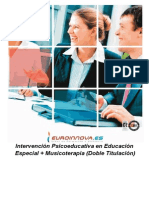 Intervencion Psicoeducativa Especial Musicoterapia Educacion
