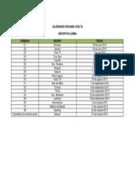 Calendario Segunda Vuelta