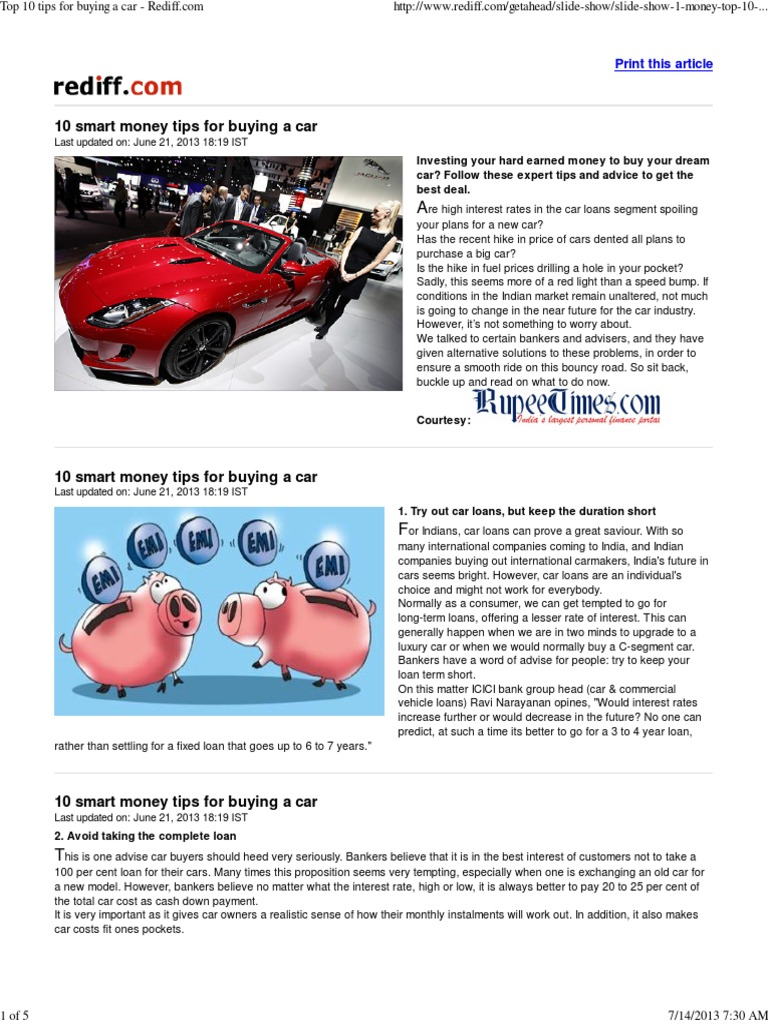 10 10 tips for car buying - 10 10 Tips For Car Buying 8