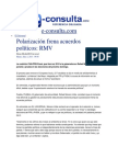02-07-2013 e-consulta.com - Polarización frena acuerdos políticos, RMV