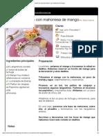 Copa de Marisco Con Mahonesa de Mango