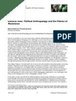 Antropologia Politica y La Fabrica de Resistencias _kastrinou-Theodoroulou