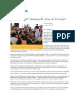 03-07-2013 El Sol de Puebla - Supervisa RMV Arranque de Obras en Xicotepec