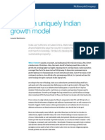 Toward a Uniquely Indian Growth Model
