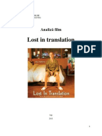 Analiza Film - Lost in Translation