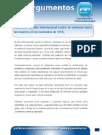 25 11 13 Manifiesto Día Internacional contra la violencia hacia las mujeres