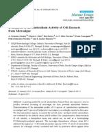 Activitate Antioxidanta Extract de Alge
