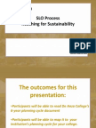 Creating a Culture of SLOs. The SLO Process