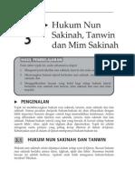 Topik 3 Hukum Nun Sakinah Tanwim Dan Mim Sakinah
