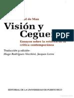 De Man-Visión y Ceguera